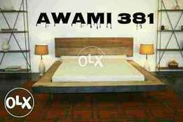 King size double bed with sider table by AWAMI