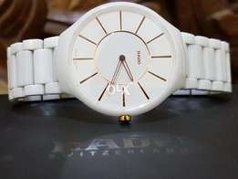 Original Rado True Thinline White Dial White Ceramic 140.0741.3