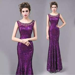 gaun by PO cheongsam purple