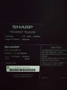"Dijual Murah TV Sharp LED type LE-820 AQUOS QUATRON (42"" Inch)"
