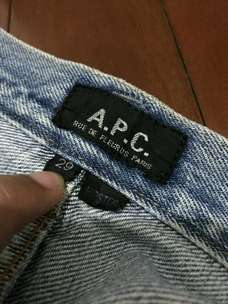 A.P.C. APC Jeans Selvedge Denim not Uniqlo Elhaus Sage Bluesville