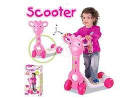 Plastic scooter real action set