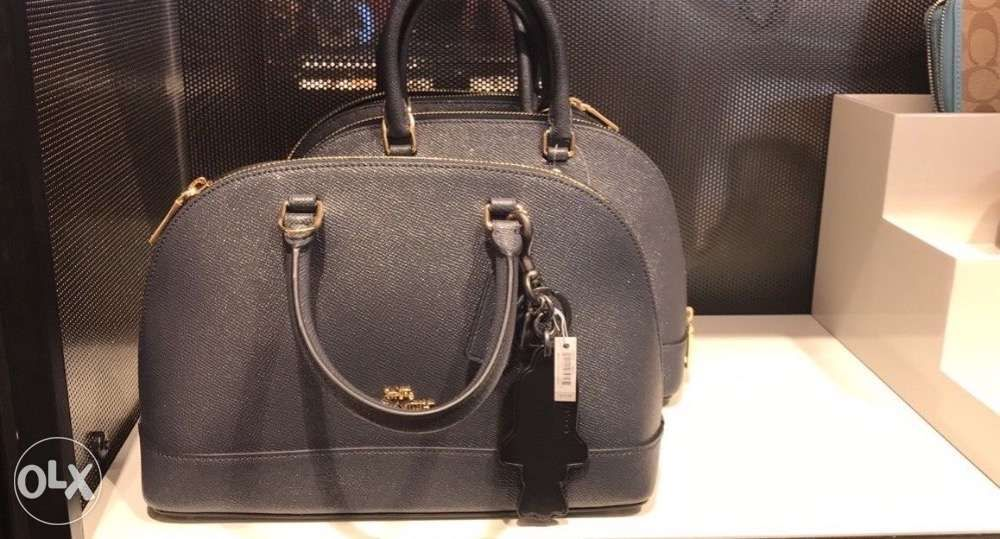 18cb3329e204f new zealand sale coach mini sierra sling satchel bag glitter crossgrain  midnight e55c4 0da66