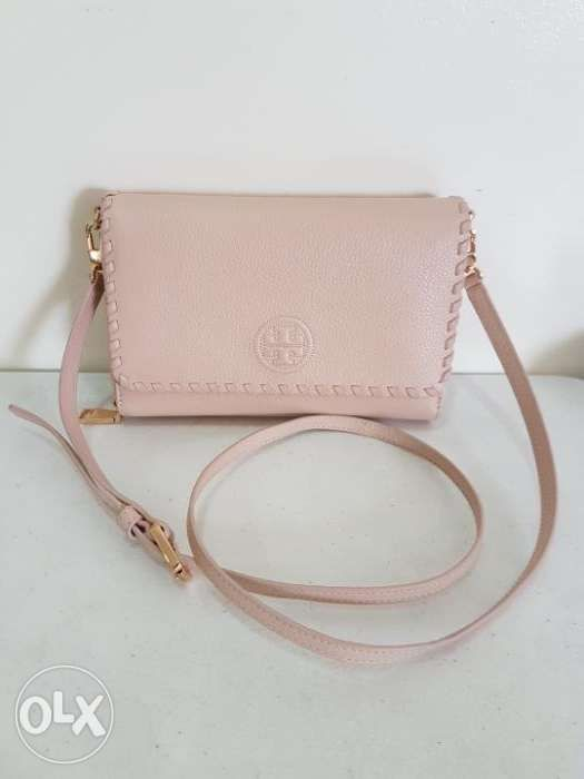1b0d5c2e58a Tory Burch Marion Wallet on Chain or Crossbody Bag in Manila