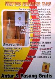 water heater gas merk astom