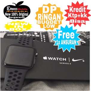 Bisa Kredit Apple Watch Series 3 GPS Nike+ [38mm] New Call/Wa DP tany