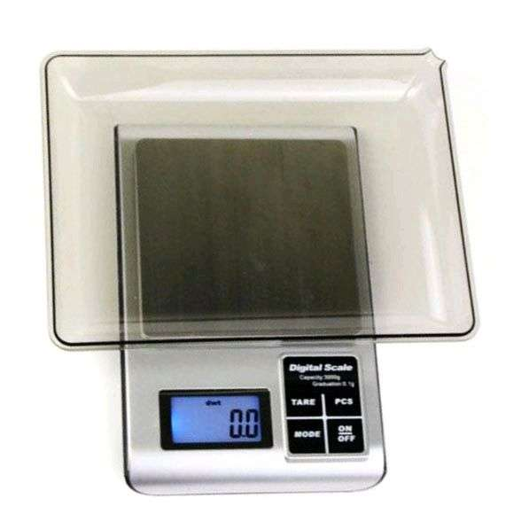 5KW 1.8 Inch LED Digital Electronic Jewelry Scale 3000g x 0.1g - Black