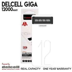 Powerbank Delcell GIGA LED 12000 mah Real Capacity