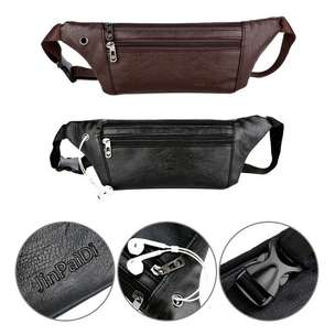 WAISTBAG ultraslim Kulit Polos Black and Brown Coffee