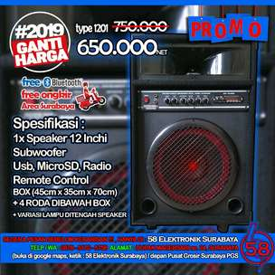 Speaker Aktif meeting 12inchi Subwoofer FREE Ongkir Bluetooth