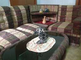 7 seater sofa set with side table with centre table