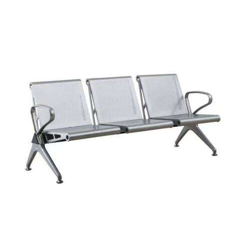 Buy 3 Seated Waiting Chair Silver Online For Sale - All Pakistan