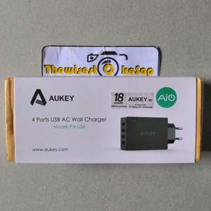 Charger Cas Aukey 4 lubang port AiPower model PAU36