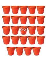Pack of 24 small Flower Pots Plastic Size 4""
