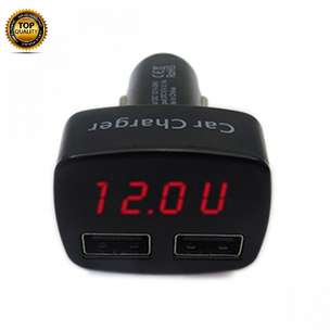 Ntaps>Smart Car Charger Casan HP Mobil Voltmeter Thermometer Smart 138