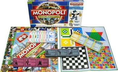 Games Monopoly 5in1 Monopoli Game Halma Ular Tangga Ludo Catur All 5