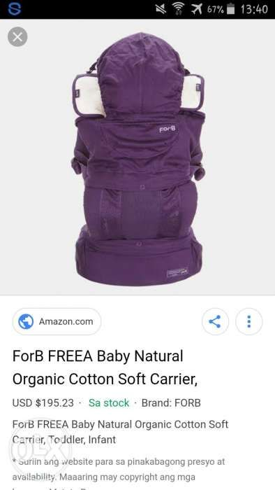 b9555406b9a ForB baby carrier in Caloocan