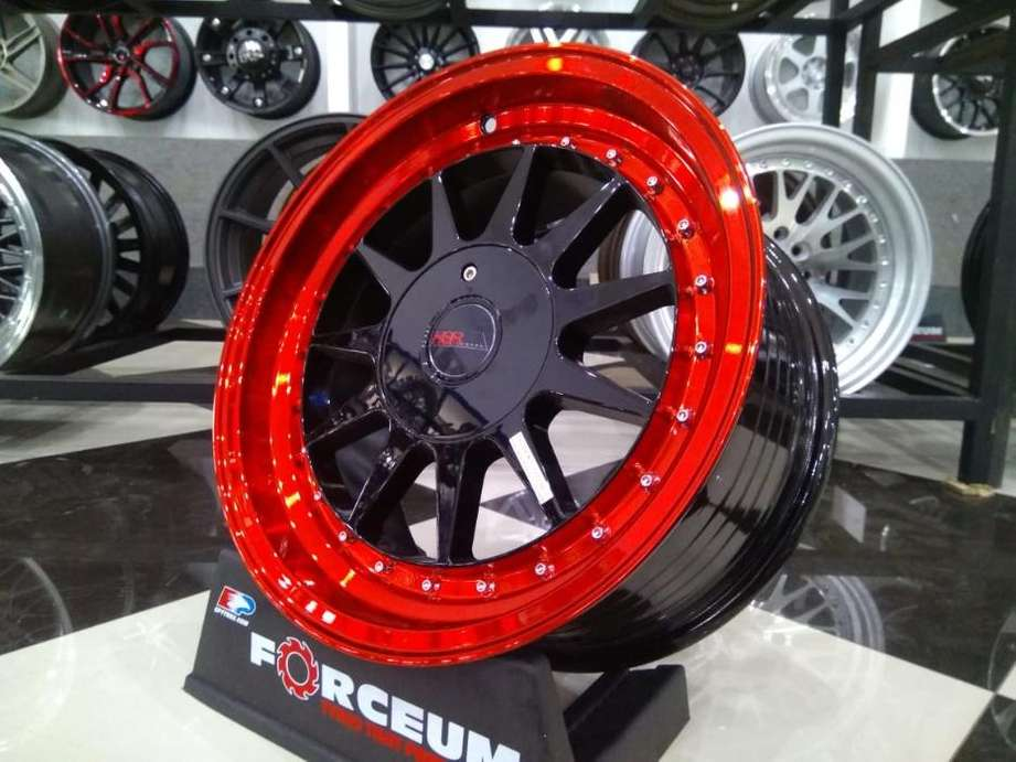 Velg untuk modif yaris ring 16 model ikimasu warna black red