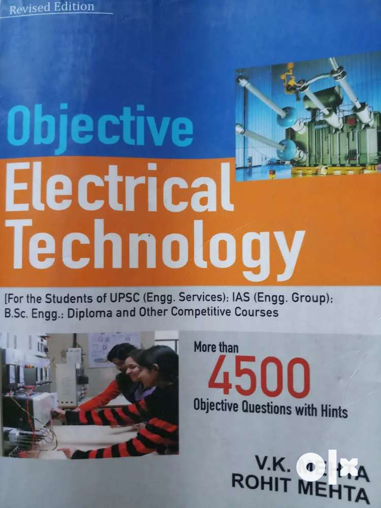 Electrical Engineering Objective Book By Vk Mehta Free Download: OBJECTIVE ELECTRICAL TECHNOLOGY - Books - 1501985954rh:olx.in,Design