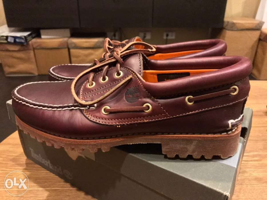 70665be91a16 Timberland Mens 3Eye Boat Shoes Wine Red in Manila