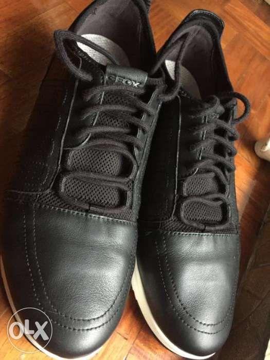d3a721a126 US Size 10 Geox - Respira Black leather sneakers Men's shoes - Men ...