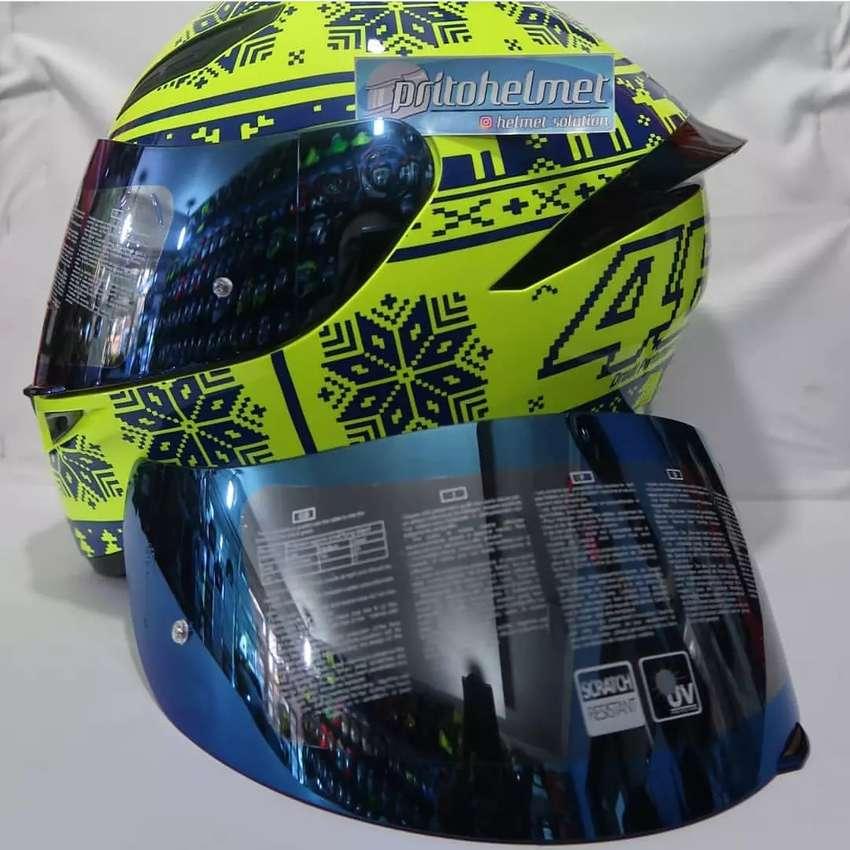 Visor Iridium Blue Agv K3 Sv K5 Dan K1 Original Helm 750881846