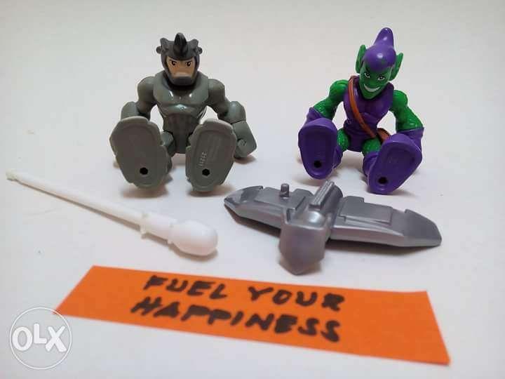 ACTION FIGURE Spider Man Hasbro Playskool Spiderman Hulk Rhino In