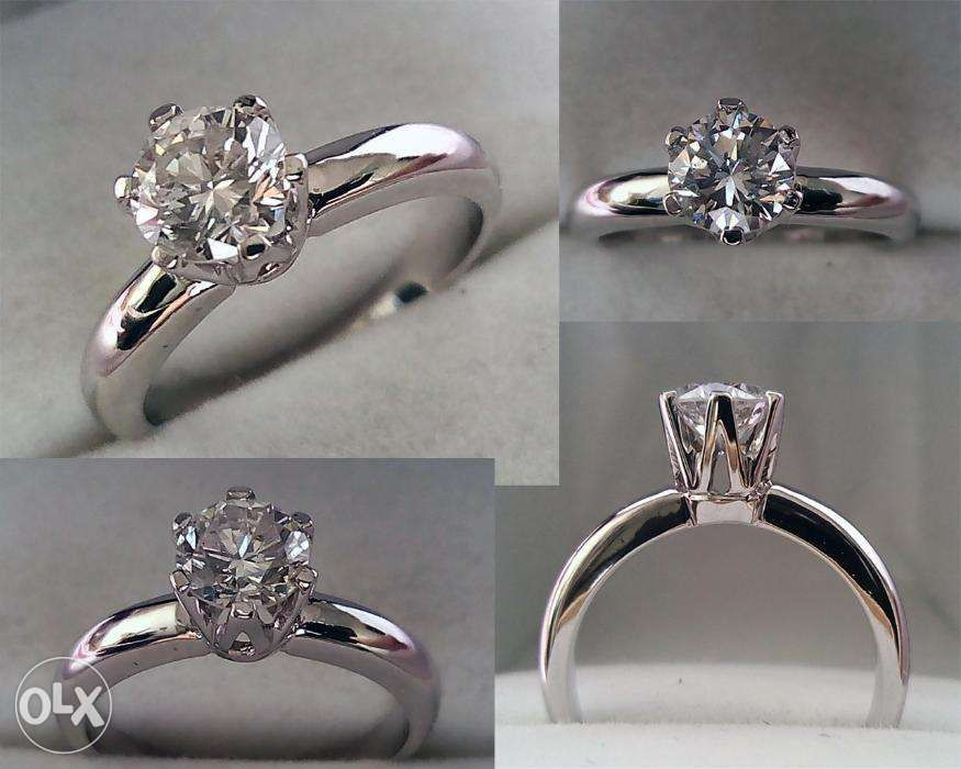 genuine non enhanced diamond engagement and wedding rings