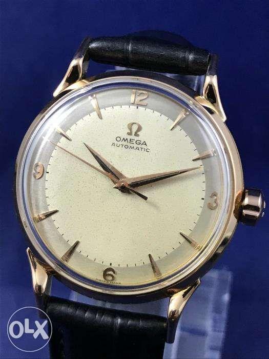 496a474ae7b 1956 Omega 18K Rose Gold Automatic Bumper Watch Rolex Tudor IWC Patek ...