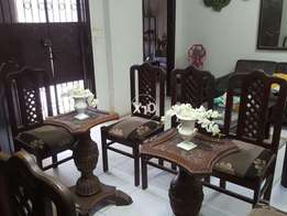 Dining Table 8 Chairs Pure Sheesham Wood. Without Table Mirror .