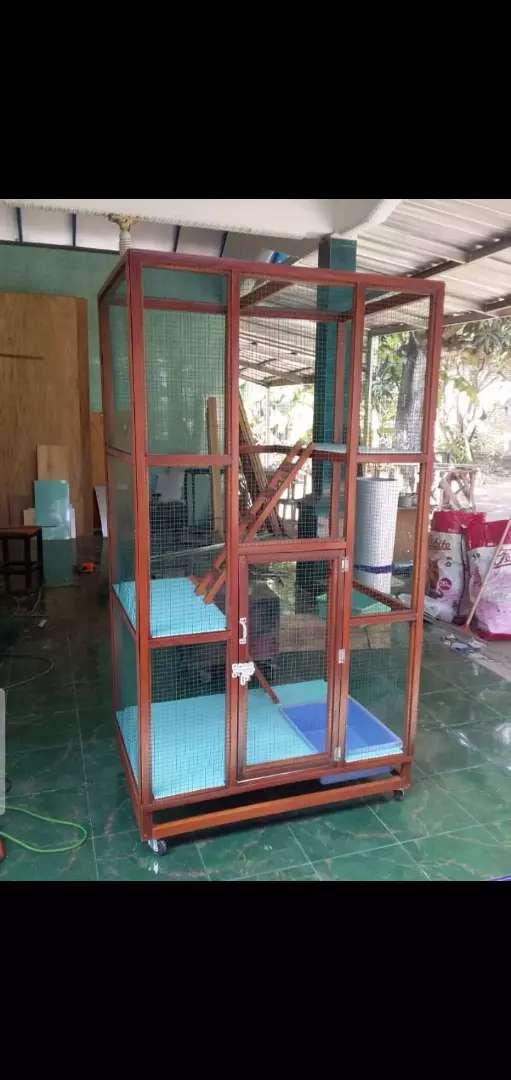 Kandang Kucing Anggora Persia Bahan Kayu Mahoni Sby Hewan Peliharaan 765780964