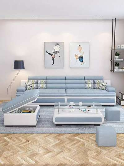 Sofa Living Room Modern Letter L