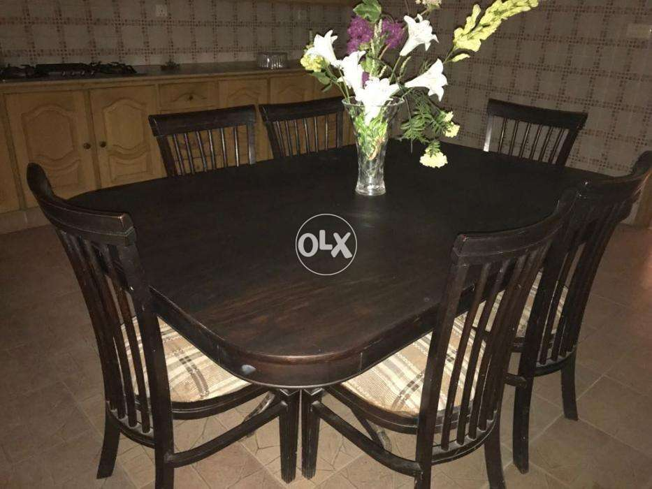 Eight Chairs Dining Table Set