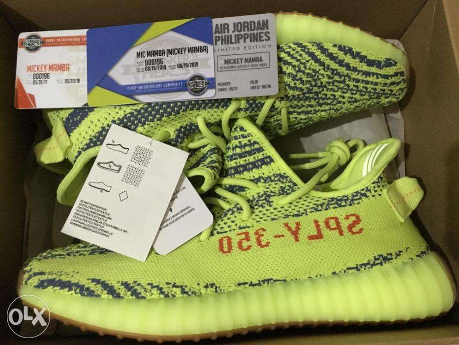 5f190ced07a82 Adidas Yeezy Boost 350 v2 Semi-Frozen Yellow Size 8 US in Quezon ...