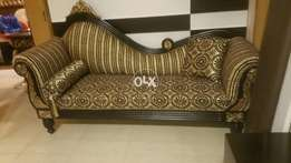Antique solid wood diwan