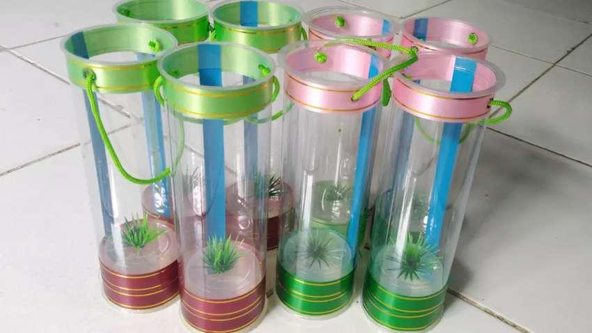 Aquarium Mini Ikan Cupang Tabung Portable Hiasan Hewan Peliharaan 802680630