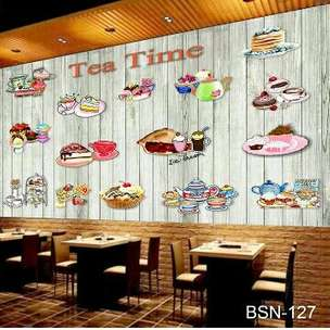 Wallpaper Dinding 3D urk Cafe atau Resto