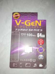 Micro SD Vgen Turbo Series 64 GB Class 10