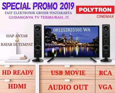 "TV LED POLYTRON 32"" NEW  HD  USB Movie cenemax garansi resmi  politron"