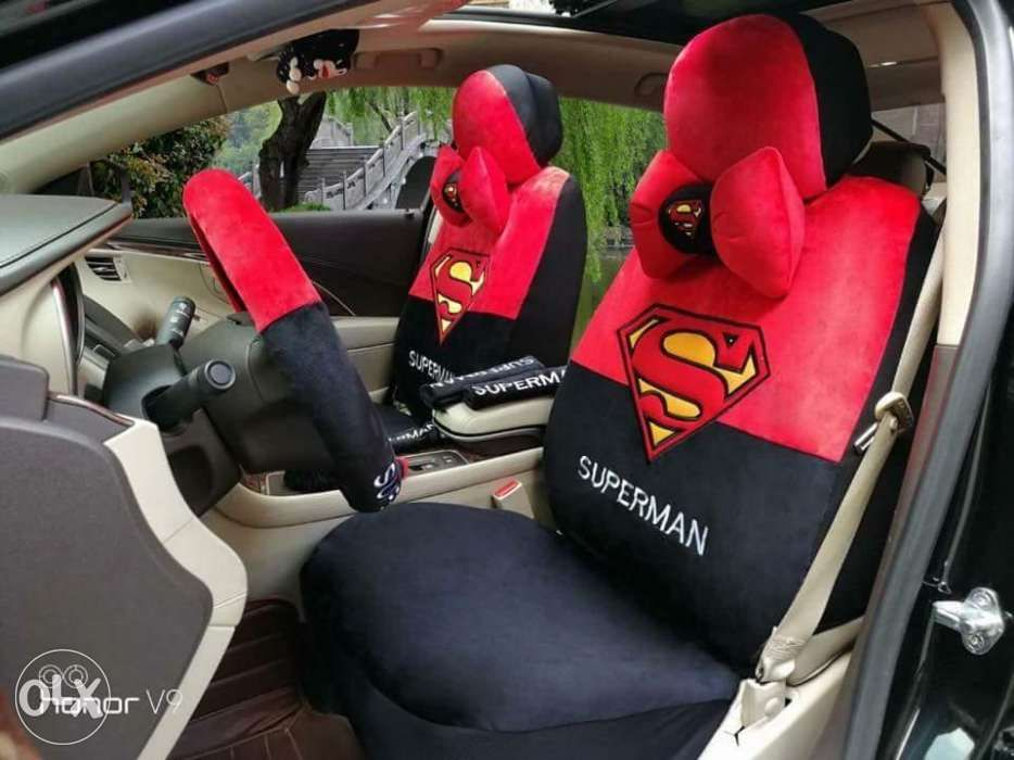 Spiderman Captain America Batman And Superman Car Seat Cover