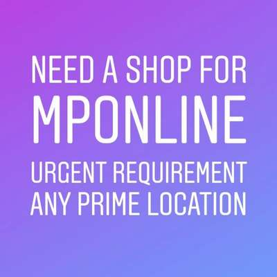 NEED A SHOP FOR MPONLINE AND MOBILE SHOP @ Rs. 6,000/- at Baldev Bagh, Jabalpur, Madhya Pradesh