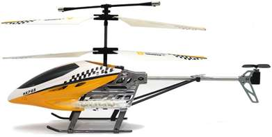 RC Helicopter HX 703 3,5 Channel Ghyroscope + Adaptor (Kuning, Merah)