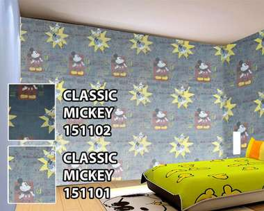 Wallpaper motif mickey (bukan stiker)