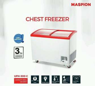 New Freezer Kaca MASPION UCHIDA 300liter #New Low Watt