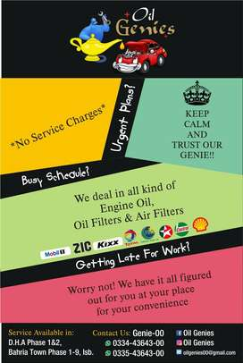 Oil Genies Free Engine Change Service At Your Doorstep