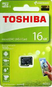 MicroSD Toshiba 16GB Class 10 UHS-1 Speed Up To 100MB/s
