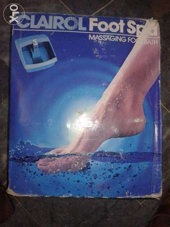 Vibrating Massaging Foot Bath (vintage Clairol Foot Spa)