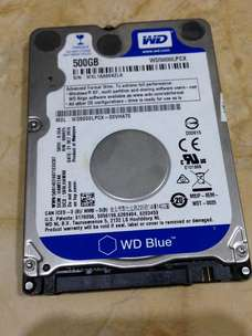 Hardisk laptop 500GB WD BLUE power on time 0 day