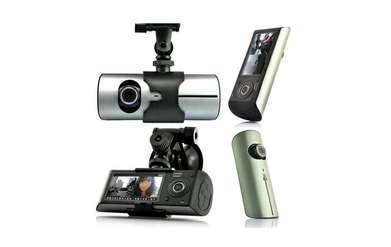cctv mobil Black Box Car DVR Dual Camera 2.7 Inch LCD
