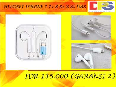 Headset iPhone 7 7+ 8 8+ X XS GARANSI 2 Bulan